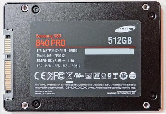 Samsung 840 Pro SSD